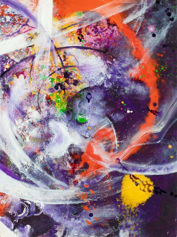 Fractal Beauty. Oil on Canvas. 18X24