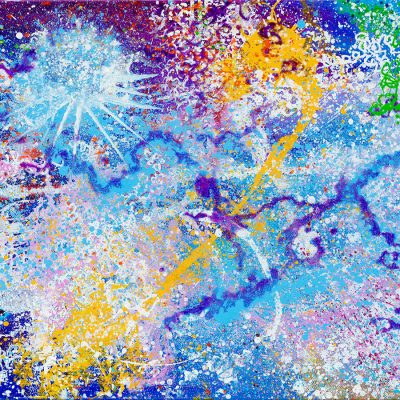 Lunar Essence Oil on Canvas. 24X48