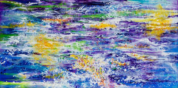 Our Ocean in Time. Oil on Canvas 24X48